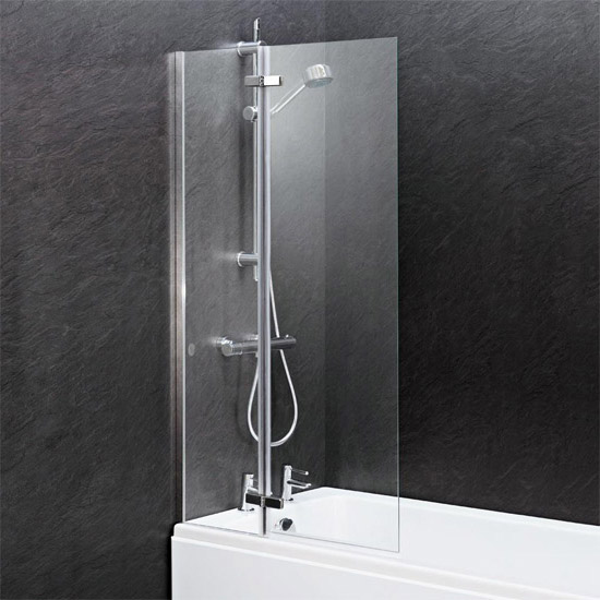 Premier - Square Hinged with Fixed Panel Screen Barmby Shower Bath Feature Large Image