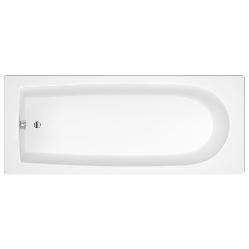 Premier - Square Hinged with Fixed Panel Screen Barmby Shower Bath Standard Large Image