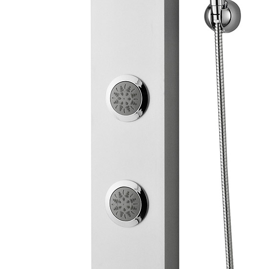 Premier - Thermostatic Shower Panel with Fixed Shower Head, 3 Body Jets & Shower Kit - AS304 Profile Large Image