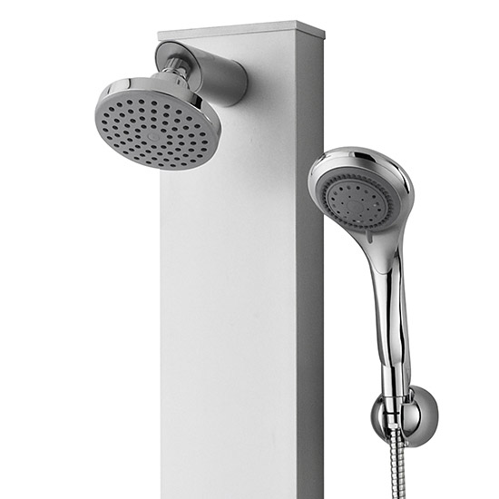 Premier - Thermostatic Shower Panel with Fixed Shower Head, 3 Body Jets & Shower Kit - AS304 profile large image view 3