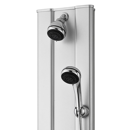 Premier - Thermostatic Shower Panel with Fixed Shower Head, 6 Body Jets & Shower Kit - AS305 Profile Large Image