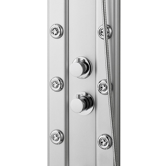 Premier - Thermostatic Shower Panel with Fixed Shower Head, 6 Body Jets & Shower Kit - AS305 Feature Large Image