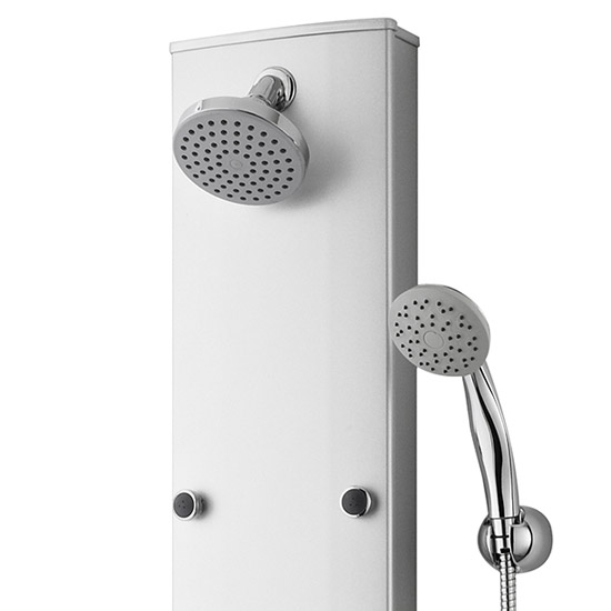 Premier - Thermostatic Shower Panel with Fixed Shower Head, 10 Body Jets & Shower Kit - AS306 profile large image view 2