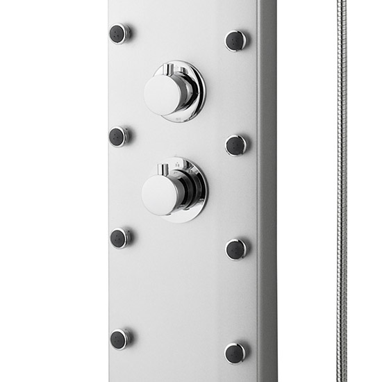 Premier - Thermostatic Shower Panel with Fixed Shower Head, 10 Body Jets & Shower Kit - AS306 profile large image view 3