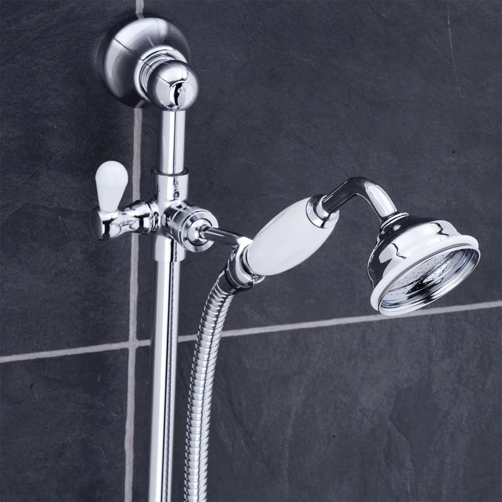 Premier Traditional Dual Exposed Thermostatic Shower Valve + Slider Rail Kit profile large image view 2
