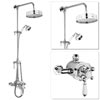 Premier Traditional Luxury Rigid Riser Kit with Diverter & Dual Exposed Shower Valve Small Image