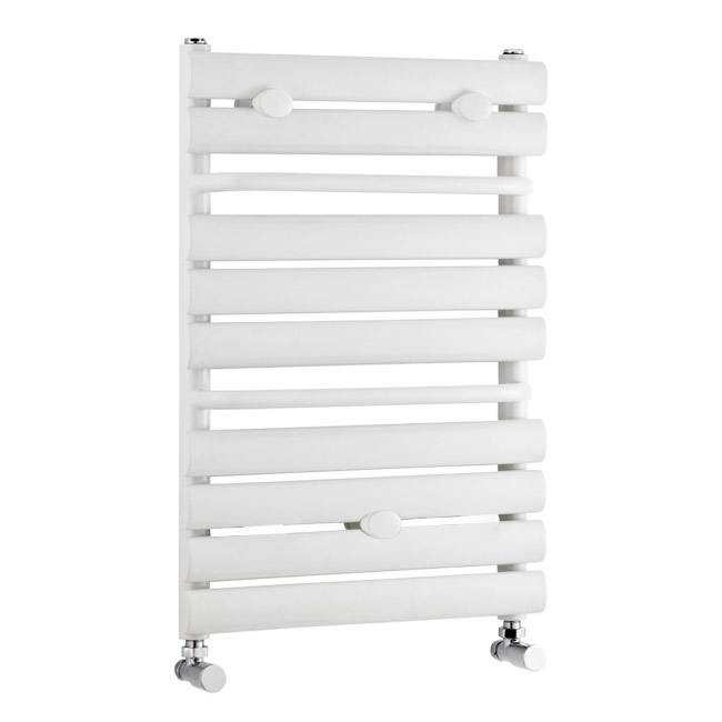 Premier - Vertical Heated Towel Rail - 650 x 445mm - White - MTY081 Large Image