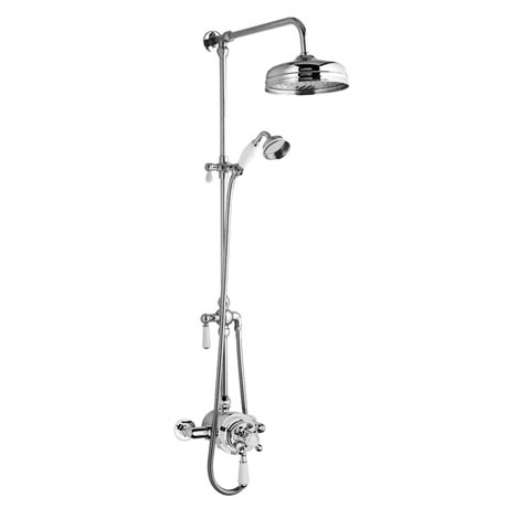 "Premier Victorian Exposed Valve inc Rigid Riser Kit, Diverter, 8"" Shower Rose & Handset"