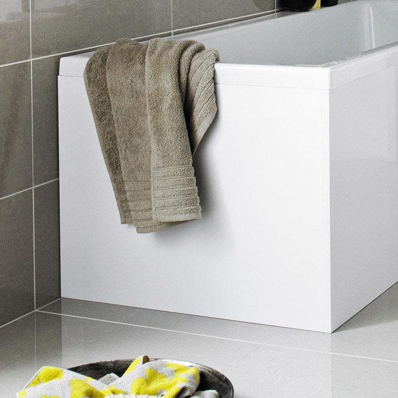 Premier W700 x H510mm Acrylic End Panel for L Shaped Bath Large Image