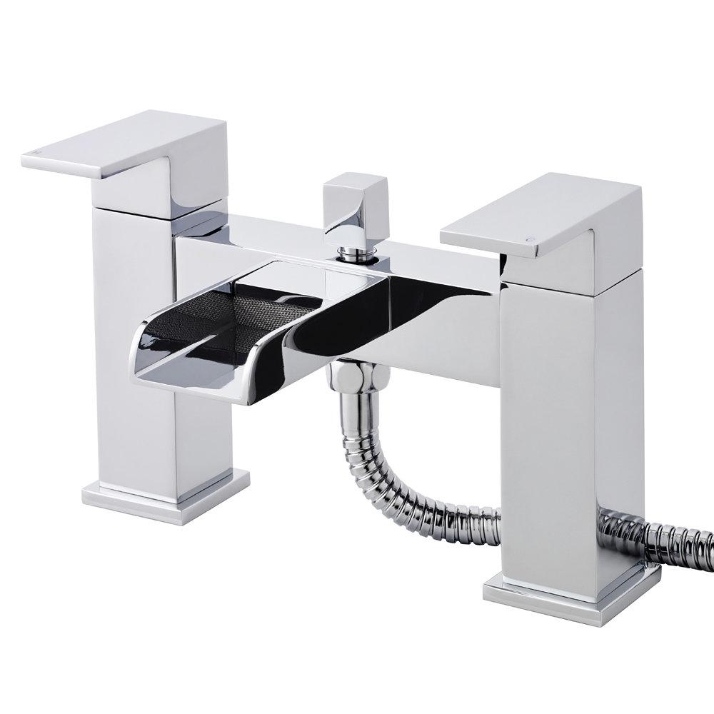 Ultra Waterfall Bath Shower Mixer Inc. Shower Kit & Wall Bracket Large Image