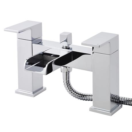 Ultra Waterfall Bath Shower Mixer Inc. Shower Kit & Wall Bracket
