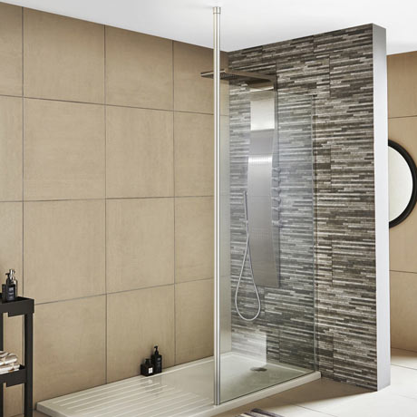 Premier Wetroom Screen + Ceiling Post (Various Sizes)