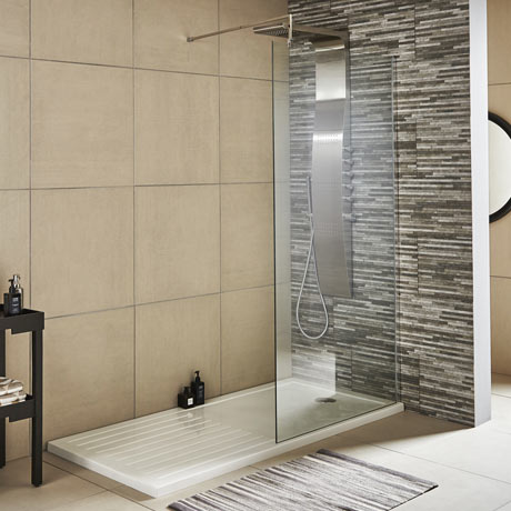 Premier Wetroom Screen + Square Support Arm (Various Sizes)