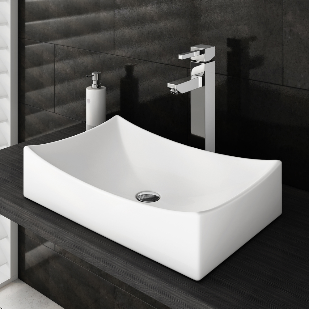 Prime High Rise Basin Mixer with Savona Counter Top Basin profile large image view 1