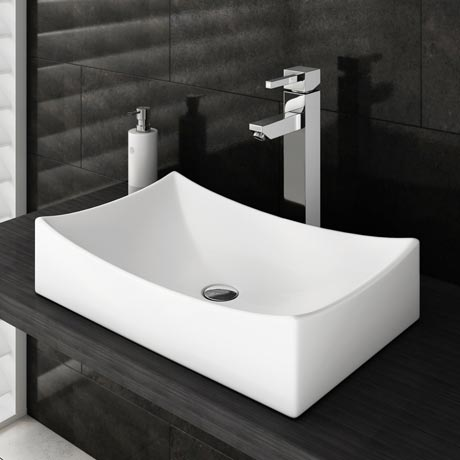 Prime High Rise Basin Mixer with Savona Counter Top Basin