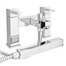 Prime Modern Bath Shower Mixer with Shower Kit - Chrome Medium Image