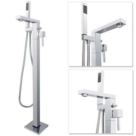 Prime Floor Mounted Freestanding Bath Shower Mixer - Chrome