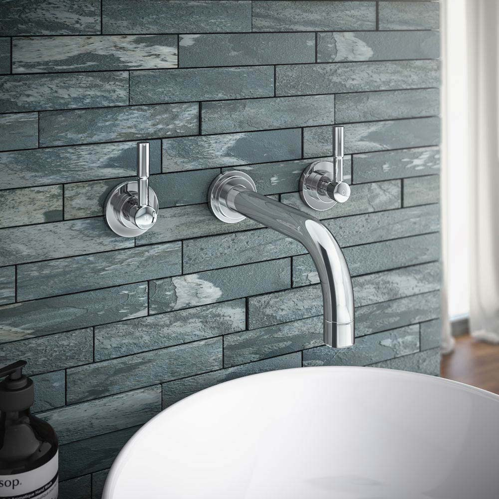 Primo Modern Wall Mounted Basin Mixer Tap