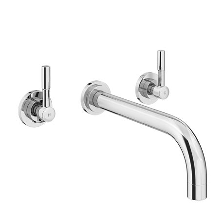 Primo Chrome Modern Wall Mounted Bath Filler Tap