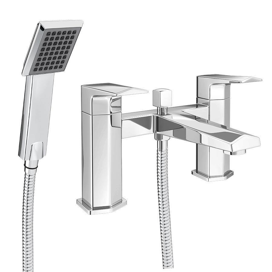 Prism Modern Bath Shower Mixer Tap + Shower Kit Large Image