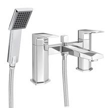 Prism Modern Bath Shower Mixer Tap + Shower Kit Medium Image
