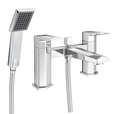 Prism Modern Bath Shower Mixer Tap + Shower Kit