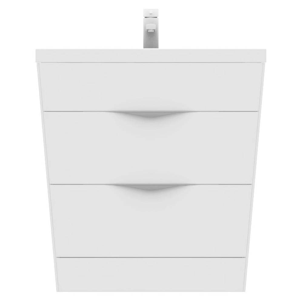 Prism Vanity Unit (White Gloss - 800mm Wide) profile large image view 2