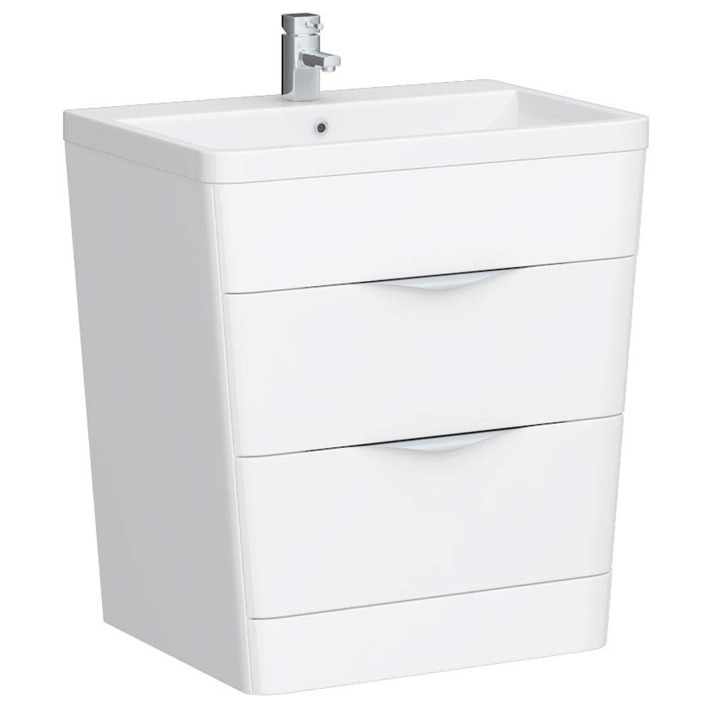 Prism Vanity Unit (White Gloss - 800mm Wide) Large Image