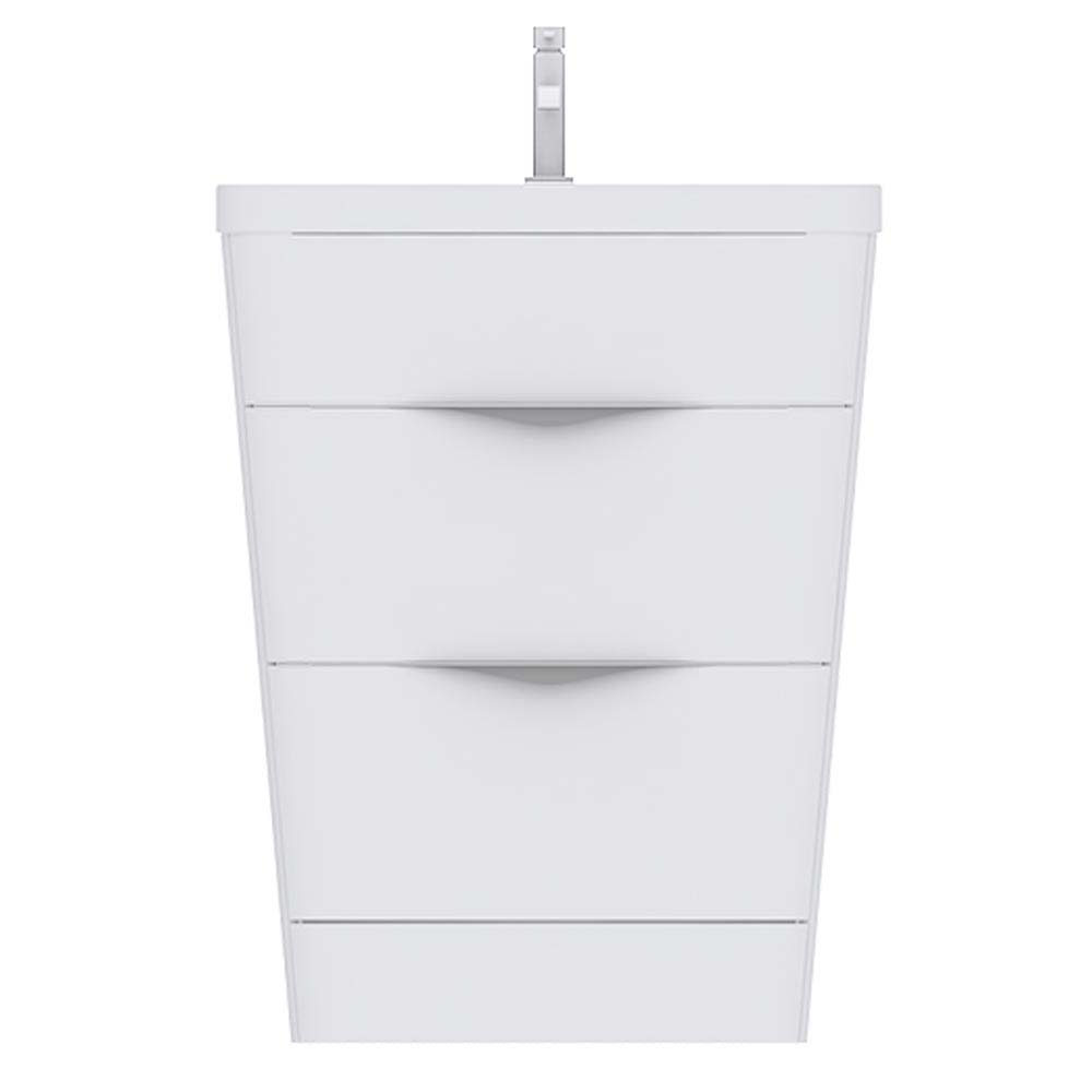 Prism Vanity Unit (White Gloss - 650mm Wide)  Profile Large Image