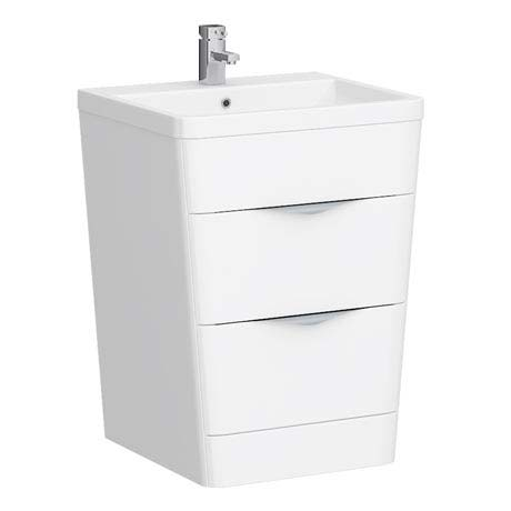 Prism Vanity Unit (White Gloss - 650mm Wide)