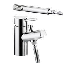 Bristan - Prism Contemporary 1 Hole Bath Shower Mixer - Chrome - PM-1HBSM-C Medium Image