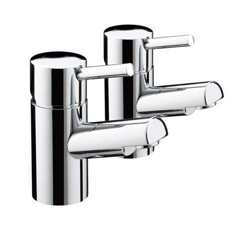 Bristan - Prism Contemporary Basin Taps - Chrome - PM-1/2-C