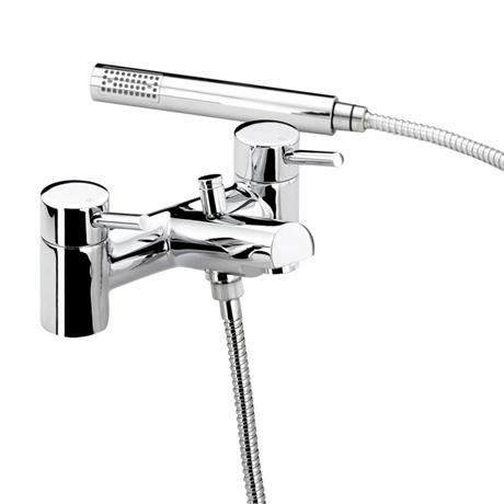Bristan - Prism Contemporary Pillar Bath Shower Mixer - Chrome - PM-BSM-C