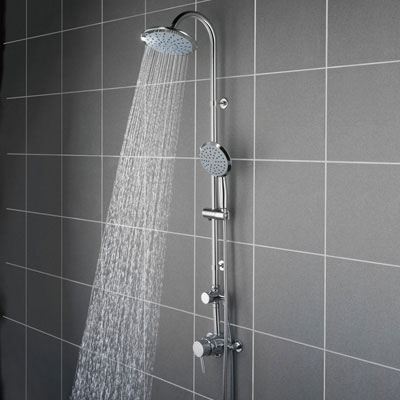 Bristan Prism Exposed Fixed Head Shower with Diverter + Kit profile large image view 1