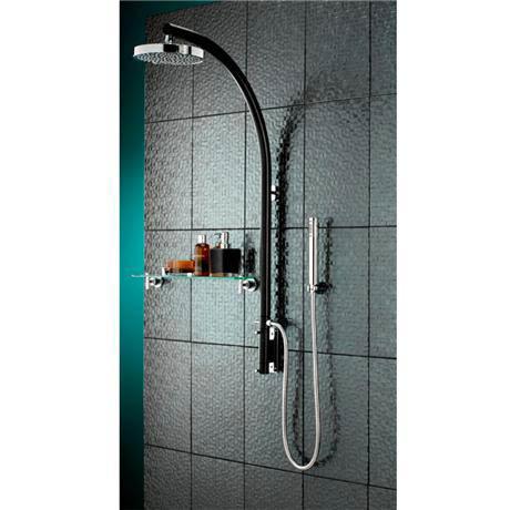 Bristan - Prism Inline Dual Control Shower Pole w/ Diverter & Kit - Black