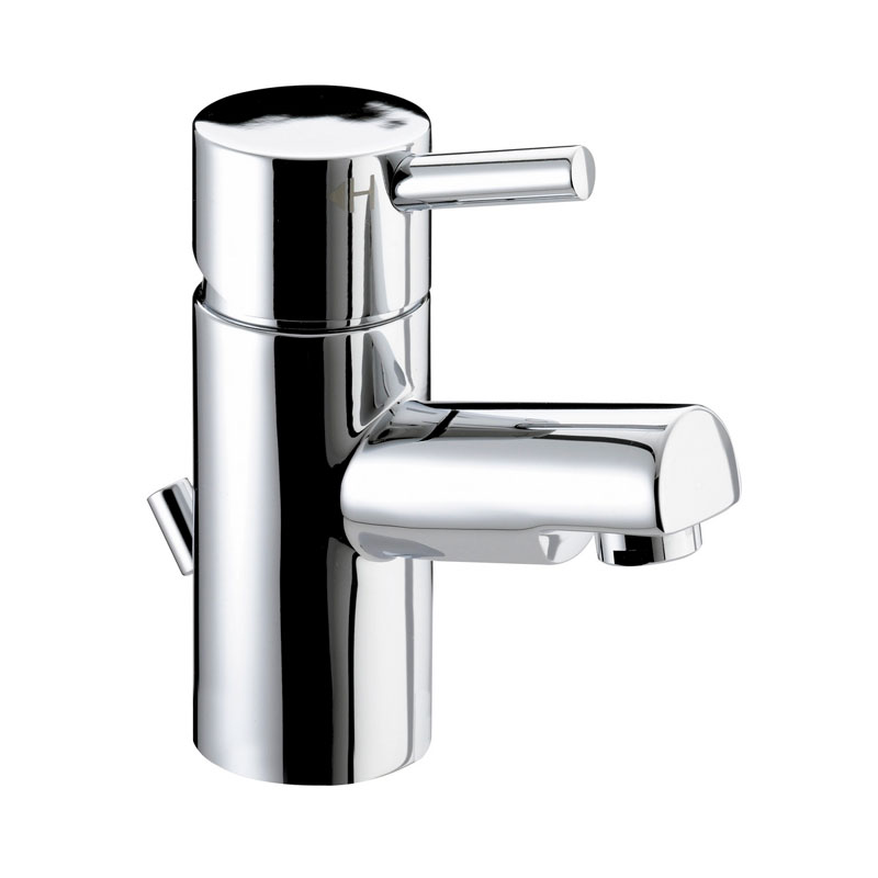 Bristan - Prism Contemporary Small Basin Mixer w/ Pop-up Waste - Chrome - PM-SMBAS-C Large Image