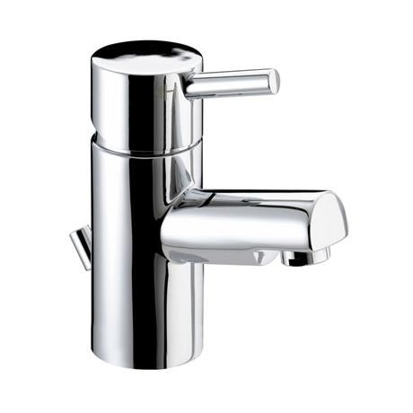 Bristan - Prism Contemporary Small Basin Mixer w/ Pop-up Waste - Chrome - PM-SMBAS-C