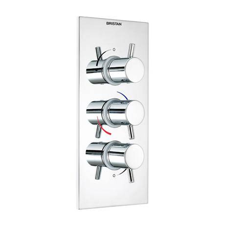 Bristan - Prism Thermostatic Recessed Mounted Triple Shower Valve - Portrait