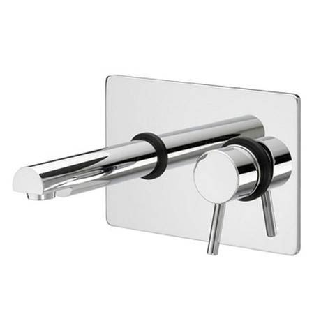 Bristan - Prism Contemporary Single Lever Wall Mounted Basin Mixer - Chrome - PM-SLWMBAS-C