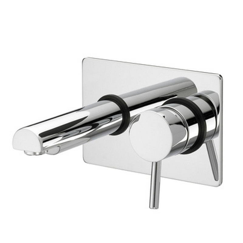 Bristan - Prism Contemporary Single Lever Wall Mounted Bath Filler - Chrome - PM-SLWMBF-C profile large image view 1