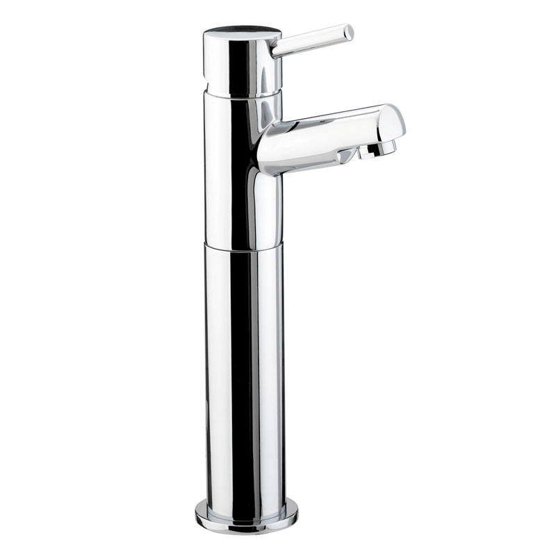 Bristan - Prism Contemporary Tall Basin Mixer (no waste) - Chrome - PM-TBAS-C Large Image