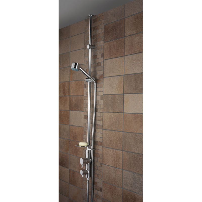 Bristan - Prism Exposed Twinline Dual Control Shower with Kit (ceiling fed) Large Image
