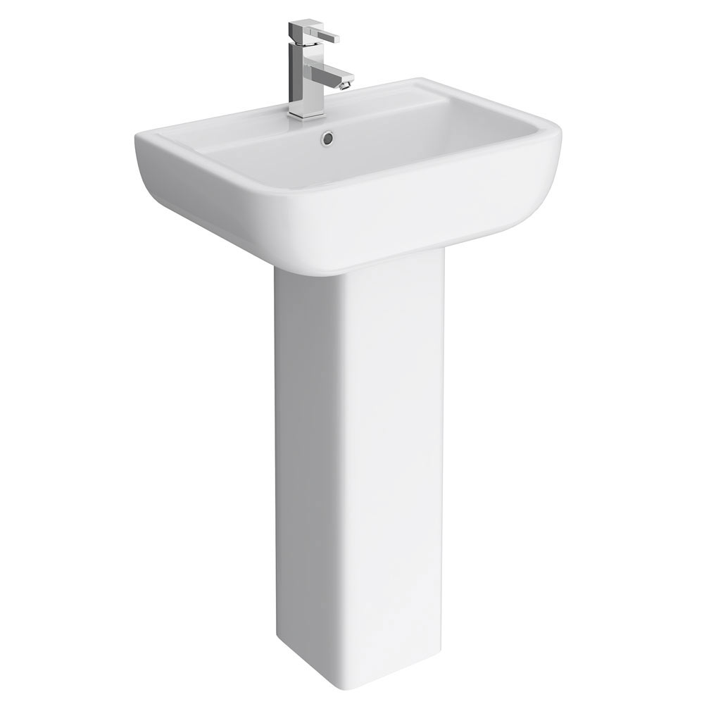 Pro 600 Back To Wall BTW Modern Bathroom Suite profile large image view 2