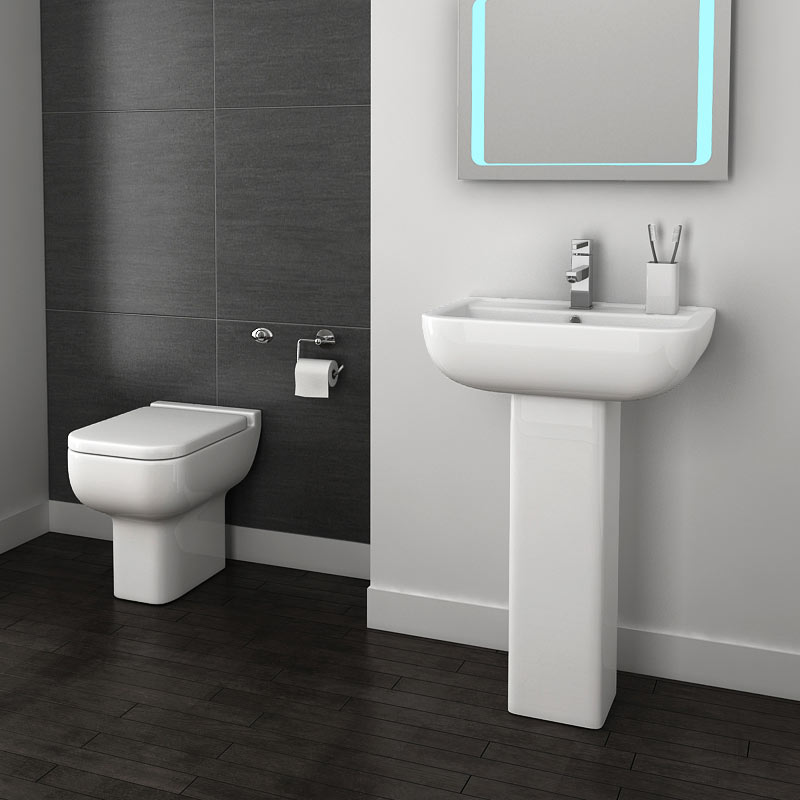 Pro 600 Back To Wall BTW Modern Bathroom Suite Large Image