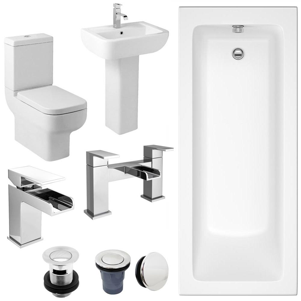 Pro 600 Complete Bathroom Suite Package Large Image