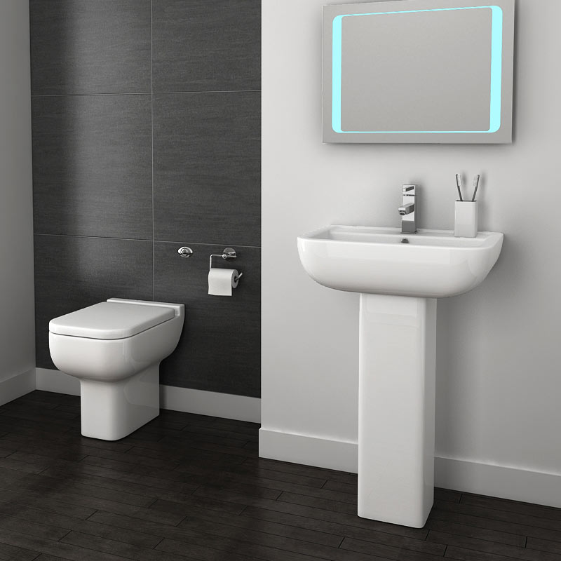 Pro 600 Modern Back To Wall Toilet with Soft Close Seat Profile Large Image