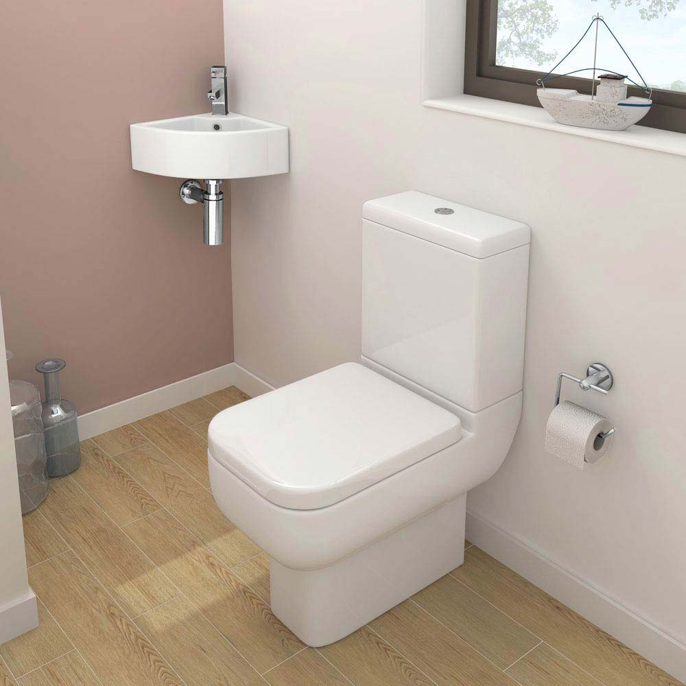 Pro 600 Modern Cloakroom Suite profile large image view 1