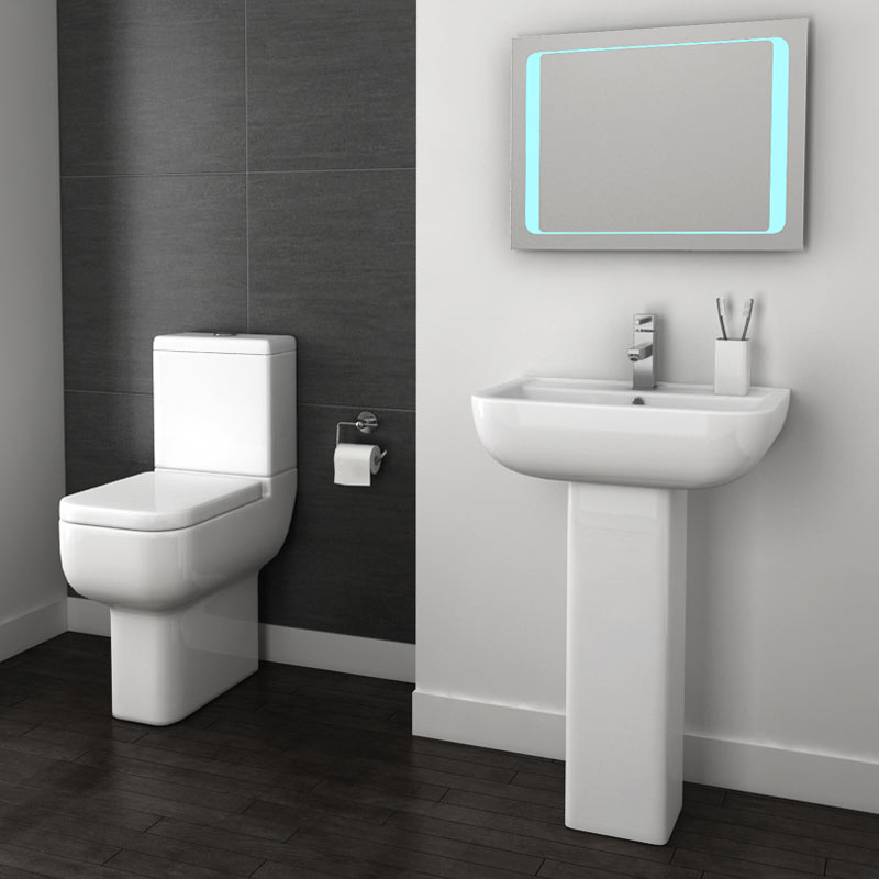 Pro 600 Modern Comfort Height Toilet with Soft Close Seat profile large image view 2