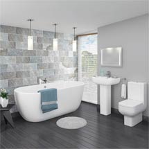 Pro 600 Modern Free Standing Bath Suite Medium Image