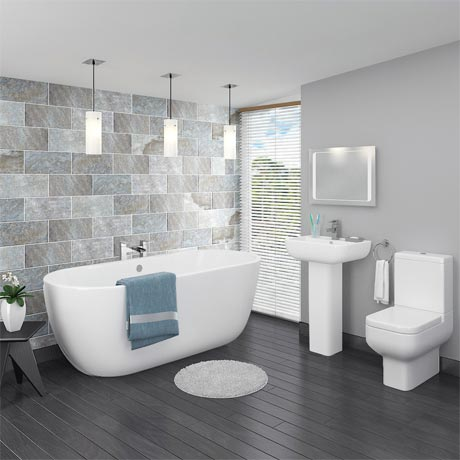 Pro 600 Modern Free Standing Bath Suite
